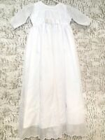 Baby Girl Dress White Size 6-9 Months Baptism Embroidered Floral Sequin W Shorts