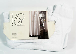 "Project 62 Tropical White Print Bohemian Botanical 72"" X 72"" Shower Curtain"