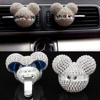 Pair Cute Mouse Fragrance Car Air Freshener Auto Vent Perfume Diffuser