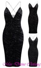 Midi Sleeveless Dresses for Women with Glitter