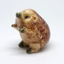 Miniature Dollhouse Ceramic Porcupine Figurine Handicraft Collectible Animal