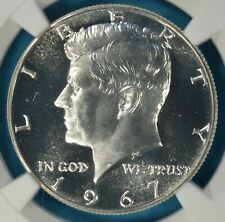 1967 SMS Kennedy Half Dollar NGC MS67 CAMEO- Well Frosted, Sharp Gem, PQ