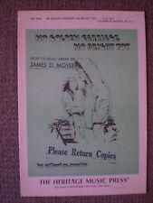 No Golden Carriage, No Bright Toy (Satb Choir) - Gilbert M. Martin