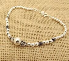 Plata esterlina 925 Perlas De Bali Pulsera Joyería