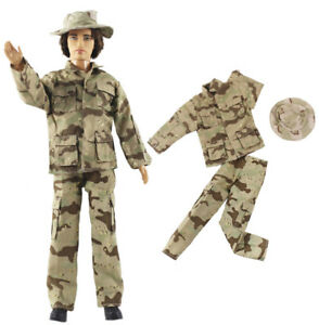 Fashion Outfits/Clothes/Uniform Tops+Pants+Hat For 12 inch Ken Doll