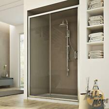 SHOWER DOOR CUBICLE SCREEN CLEAR GLASS SLIDING DOOR 1500 MM FIXED PANEL H1850