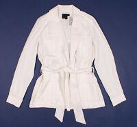 New Intermix White Wrap Safari Jacket Size S Small MSRP $425