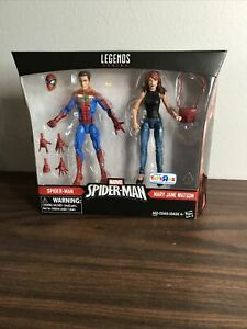 Hasbro Marvel Legends Spider-Man and Mary Jane Watson TRU 2 Exc  Set New-A1