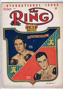 The Ring Boxing Magazine June 1953 Randolph Turpin vs Charley Humez