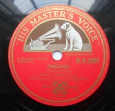 "Mario Lanza 10"" 78rpm HMV DA2002 Temptation / Lygia Visually excellent"