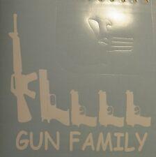 5 GUN FAMILY STICK FIGURES Vinyl Window Decal Sticker Funny Humour Car Hunting