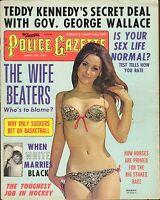 MARCH 1972 POLICE GAZETTE magazine MALESKA - SWIMSUIT - INTERACIAL MARRIAGE