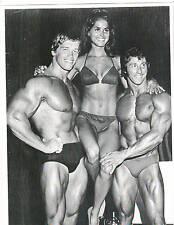 Arnold Schwarzenegger / Frank Zane Bodybuilding Muscle Photo B&W