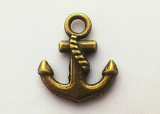 Steampunk Anchor charm Pack of 20, 15mm x 17mm