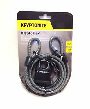 Kryptonite KryptoFlex Cable Lock with Key: 6' x 8mm 818 NEW