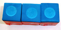 3 PIECES 1/4 Dozen  BLUE Billiard Pool Chalk Cue Stick Q Tip Table  FREE Ship