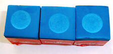 3 PIECES 1/4 Dozen  BLUE Billiard Pool Chalk Cue Stick Q Tip Table  FREE Ship