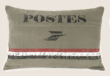"primitive new ""POSTES"" stonewashed canvas decor pillow/ 23x15 / nice"