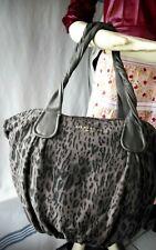 Liebeskind Berlin Leopard Print Suede & Leather Handbag Satchel