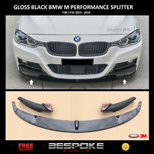 GLOSS BLACK FRONT SPLITTER FOR BMW 3 SERIES F30 F31 M SPORT LIP VALANCE 3M UK