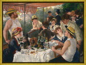Framed Auguste Renoir Luncheon of the Boating Party Giclee Canvas Print Poster