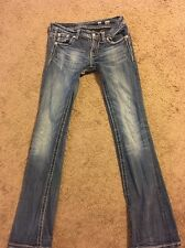 Miss Me Rock Revival 26 X 33 Heavy Distressed Jeans Bootcut Crystal LK NW