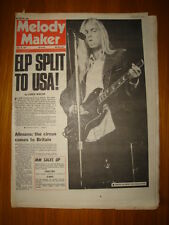 MELODY MAKER 1974 JUL 20 ELP TO QUIT UK GREGG ALLMAN