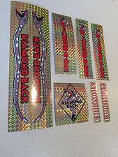 Diamondback Pro Snake Decals Sticker Set Suit Your Old School BMX Gold