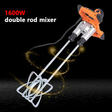 Twin Paddle Heavy Duty Powerful Mixer for Plaster Paint Cement Mortar 1600W 110V