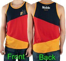 Modelo Tank Top Muscle Shirt Cerveza Especial Beer Color-Blocked Mens Size L-2XL