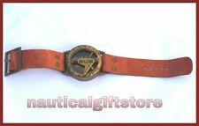 Dntique Style Steampunk Wrist Brass Compass & Sundial-Watch Type Sundial