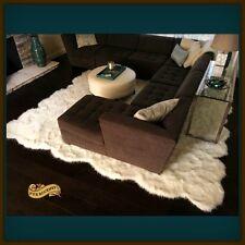 Random Mountain Sheep Pelt Rug Large White Shag Area Carpet OOAK 8' x 10'