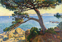 Oil painting theo van rysselberghe - The Pin of Fossette landscape by ocean art