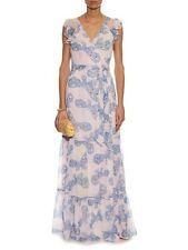 $798 DVF DIANE VON FURSTENBERG STEPHANIA DRESS PINK/ BLUE /YELLOW SILK SZ 12