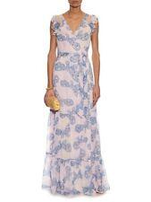 $798 DVF DIANE VON FURSTENBERG STEPHANIA DRESS PINK/ BLUE /YELLOW SILK SZ 12