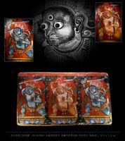 Antique Tibetan buddhism Acalanatha Acala tangka thangka wood painting Densatil