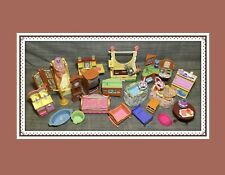 Lot of FISHER PRICE Dollhouse Furniture Appliances KITCHEN BATHROOM CRIB BED ETC
