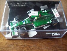 1/43 JAGUAR RACING R4 2003 MARK WEBBER SIGNED