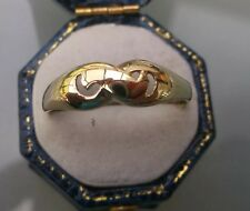Vintage Women's 14ct Gold Ring Hallmarked Size R Weight 1.8g