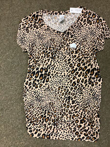 BRAND NEW TAGS MATERNITY WOMENS SHIRT SIZE SMALL 4-6 TIME AND TRU LEOPARD PRINT