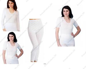 Ladies/Women 100% Cotton Underwear Short & Long Sleeve Spencer Long John UK Made