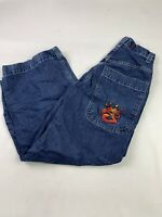 JNCO Baggy Wide Leg Jeans USA MADE Size 28x30 Vintage 90's A1919