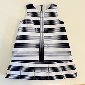 Florence Eisman 12 Month Navy & White Striped ALine Lined Toddler Dress SAMPLE