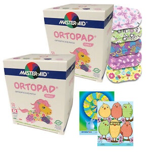 Ortopad® Bamboo 100-pack for Girls, Regular size, Adhesive Eye Patches, 2 boxes