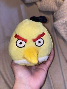 "Angry Birds Yellow Bird Chuck Plush 5"" No Sound Commonwealth 2010"