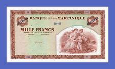 "MARTINIQUE - 1000 FRANCS ""SPECIMEN"" 1942s - Reproductions"