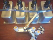 Drop In 3 4  Compartment Concession Sink, FREE GIFTS!!! 1 Hand Wash & Drain Kit