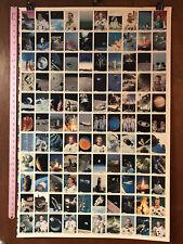 SPACE SHOTS SERIES 1 NASA ASTRONAUTS TRADING CARDS: FULL UNCUT PRESS SHEET 28X40