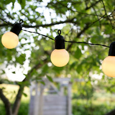 20x Opal Globe Fairy Outdoor String Chain Lights Party Garden Outside Lighting