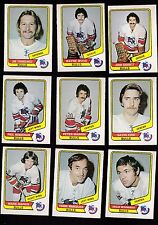 1976 O-PEE-CHEE WHA Team SET Lot of 9 Birmingham BULLS NM OPC NAPIER MAHOVLICH